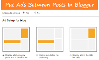 How to Put Ads Between Posts in Blogger with Pictures