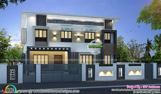 Double storied apartment and home kerala home design and for Apartment plans in kerala