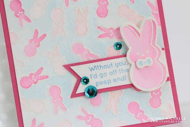 Peep Bunny Easter Shaker Box Card with stamping and watercoloring by Juliana Michaels featuring Simon Says Stamp March 2016 Card Kit