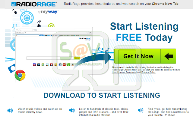 RadioRage New Tab