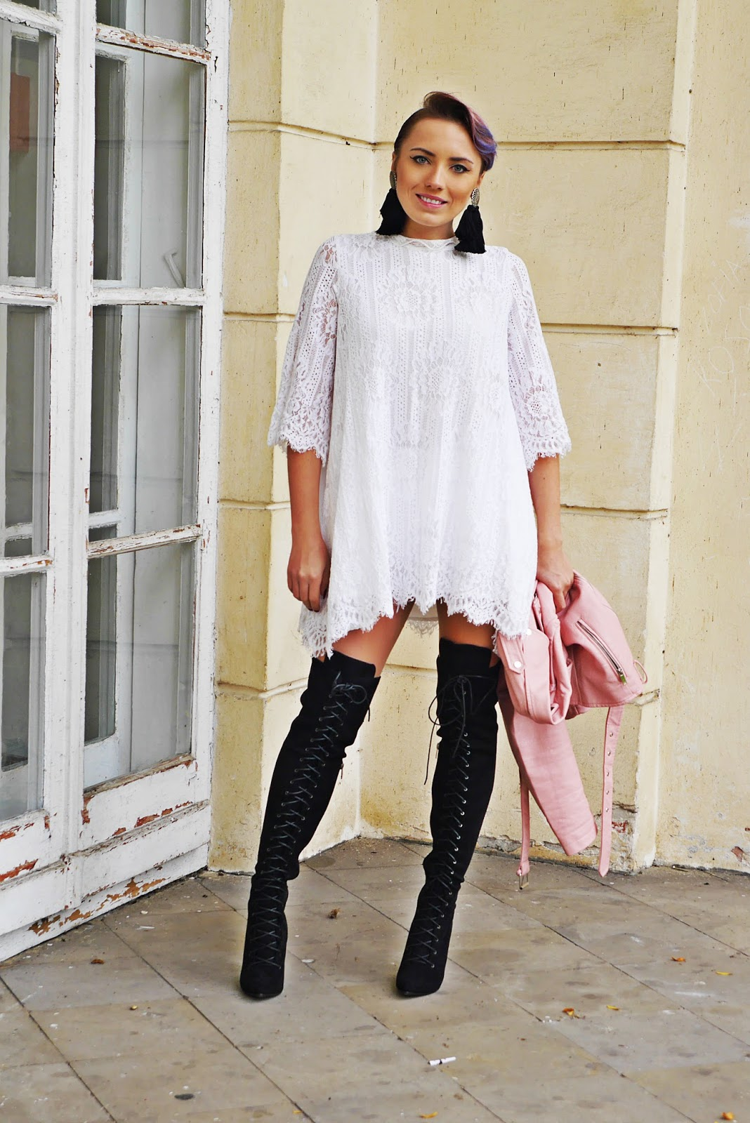 9_lace_dress_white_high_knee_shoes_renee_karyn_blog_modowy_180917