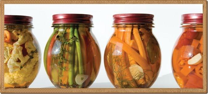tipos de encurtidos no fermentados