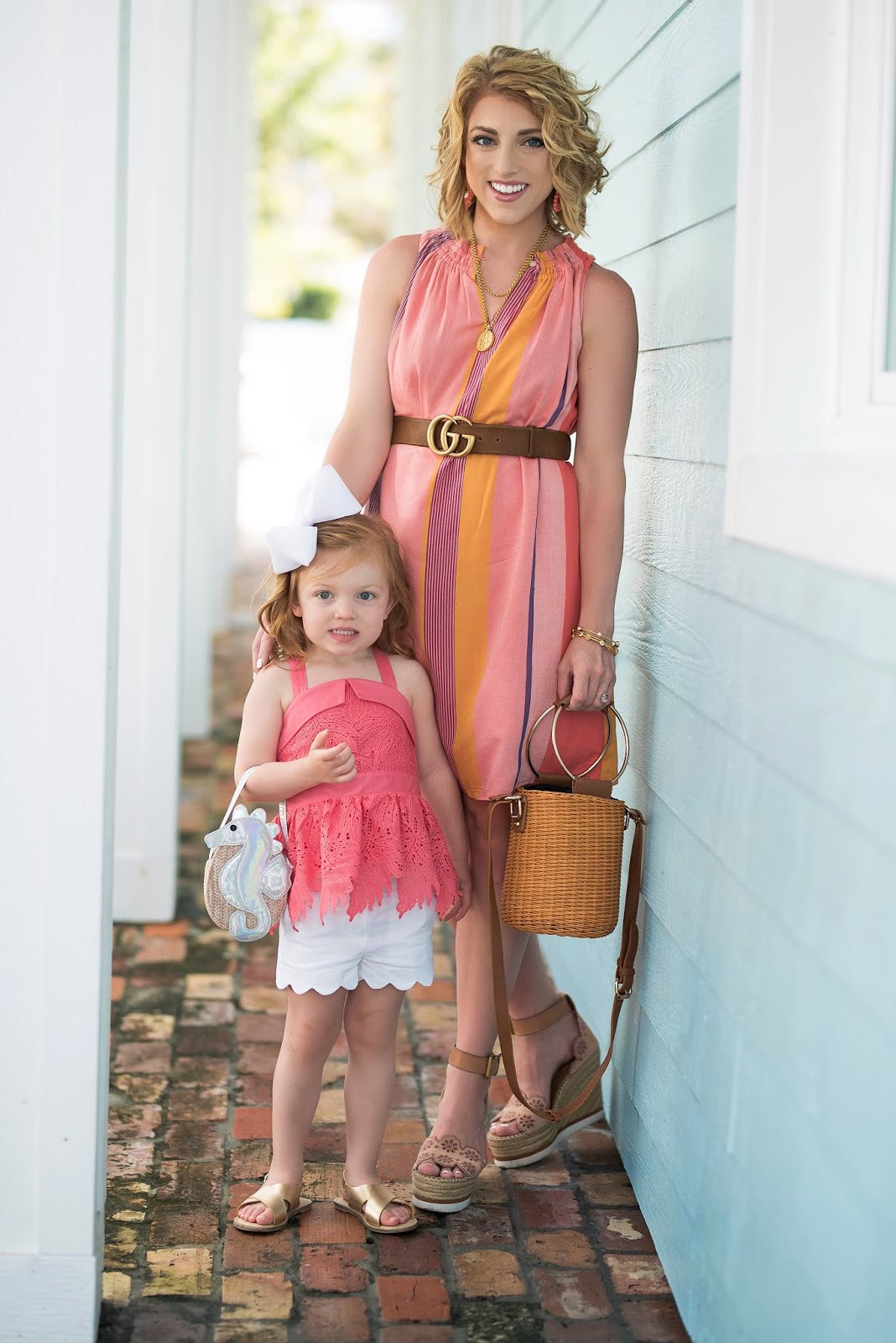 Summer Style: Mommy & Me in Coral - Something Delightful Blog