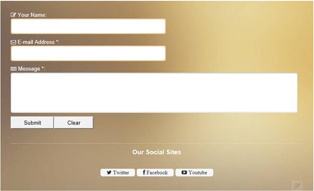 stylish contact form for blogger 1