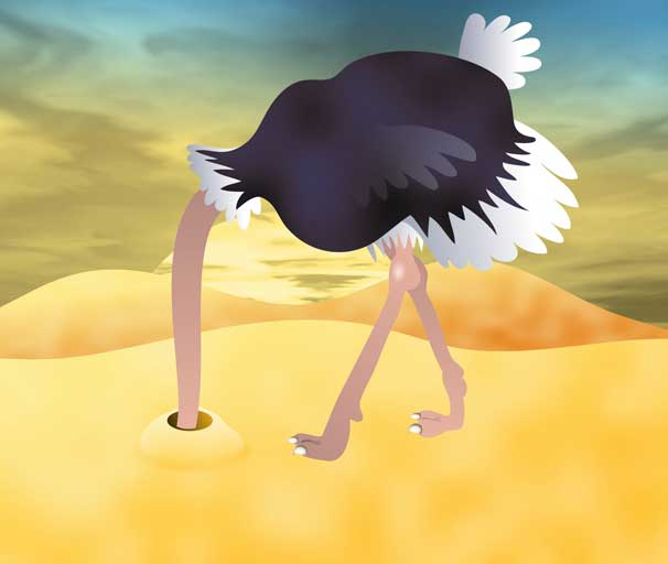 Personality Type #2 - Money Avoiders - Ostrich Buring Head in Sand