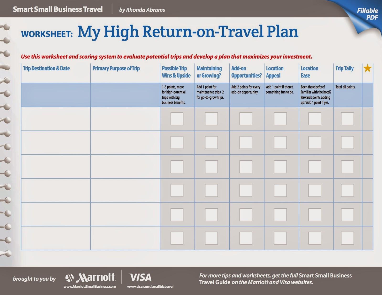 Rhonda Abrams Travel Series Blog High Return On Travel