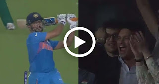 How Sachin Tendulkar reacted after M.S Dhoni hit perfect six India vs pakistan