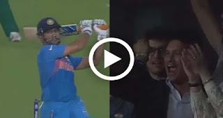 How Sachin Tendulkar reacted after M.S Dhoni hit perfect six India vs pakistan