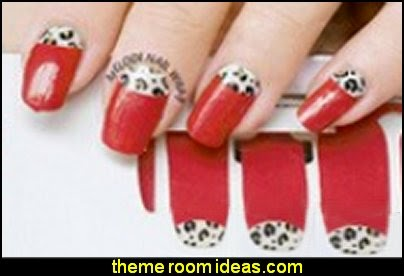 nail art - Cute DIY Tip Nail Art Sticker Nails Decal leopard pattern