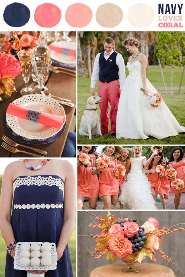 Spring Summer Wedding Colors Navy