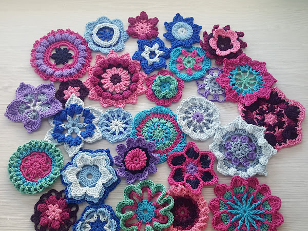 Helmikuun kukat - 365 päivää virkattuja kukkia