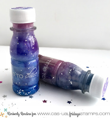 diy galaxy bottles by Kimberly Rendino | stamping | handmade | clear stamps | galaxy | galaxy bottles | nebula bottles | cas-ual fridays stamps | kimpletekreatiity.blogspot.com