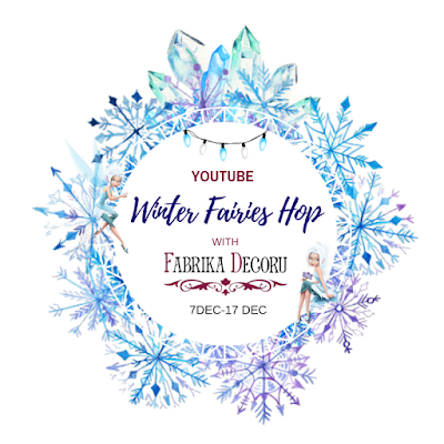 Winter Fairies Hop with Fabrika Decoru /Shabby Winter Boxes VIDEO TUTORIAL