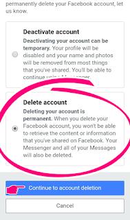 How to delete facebook account Kausar360pro Bangla