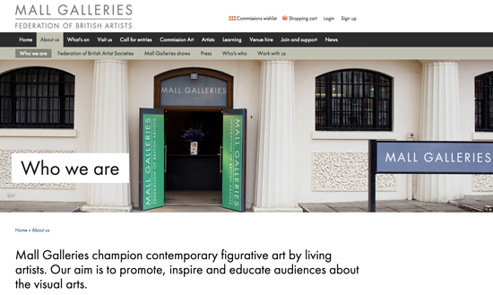 Mall galleries website - who we are