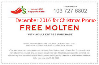 Chili's coupons december