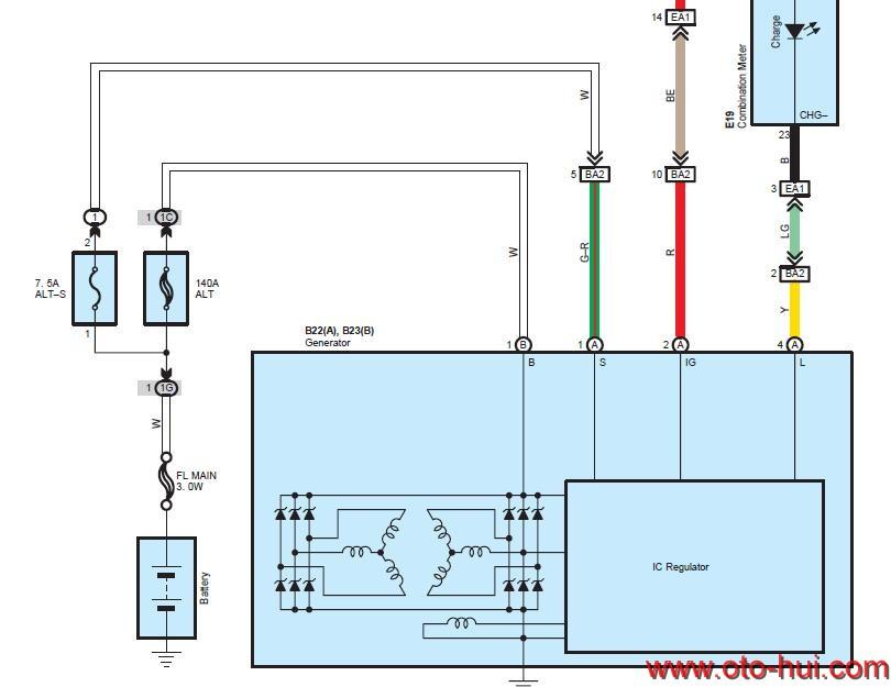 Free Auto Repair Manual : Lexus ES350 2010 Wiring Diagram
