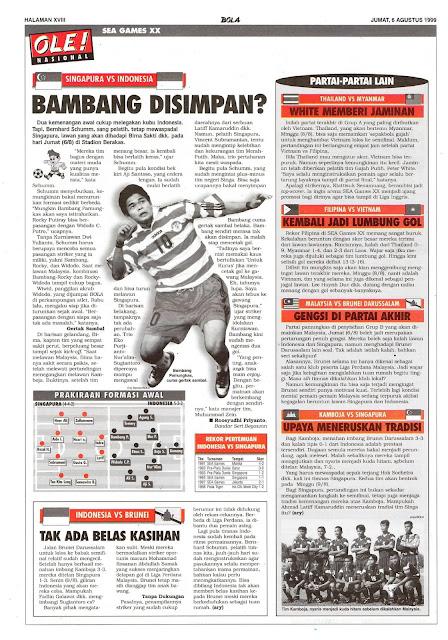 SEA GAMES XX: SINGAPURA VS INDONESIA