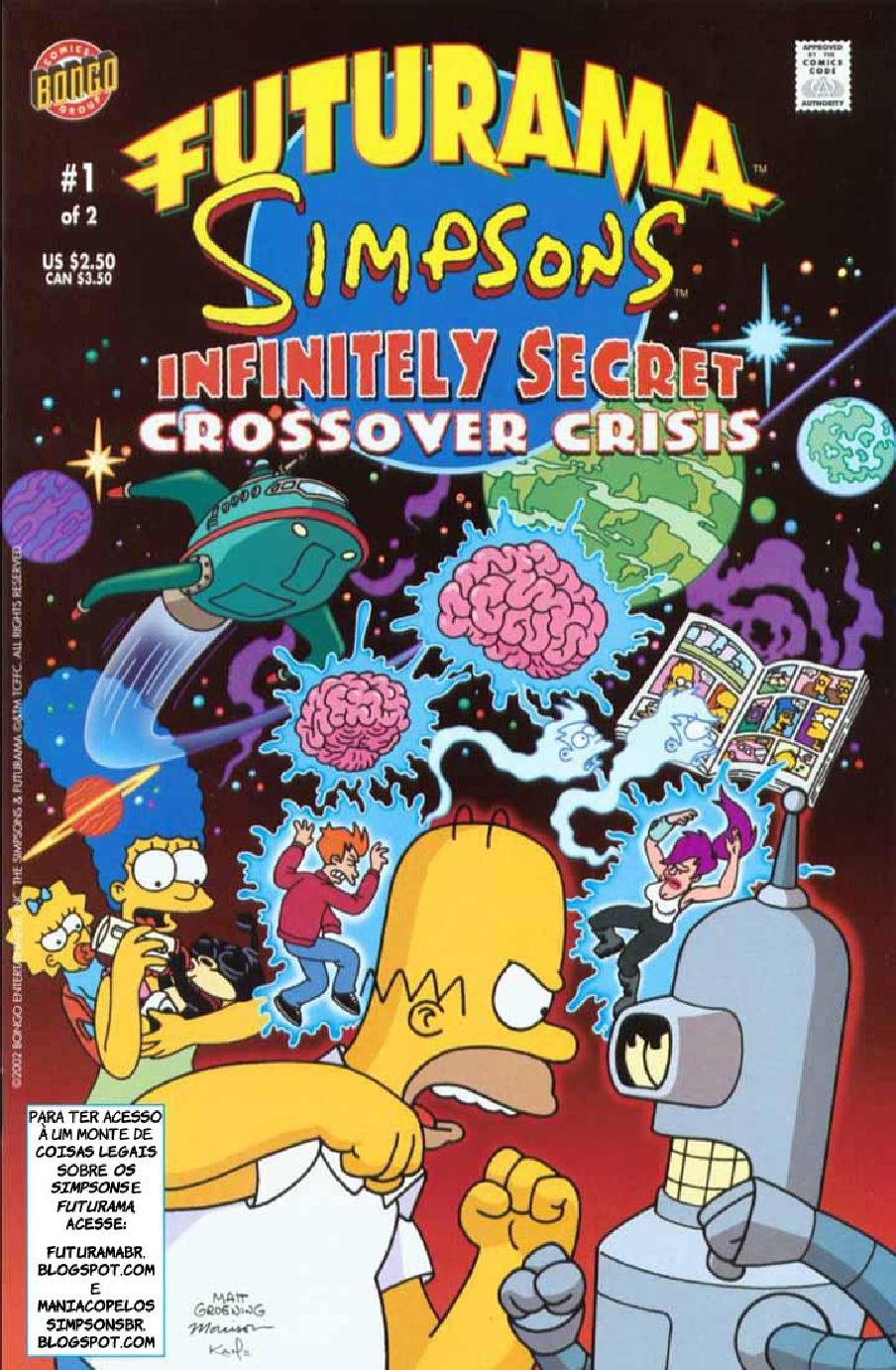 Futurama e Os Simpsons #01