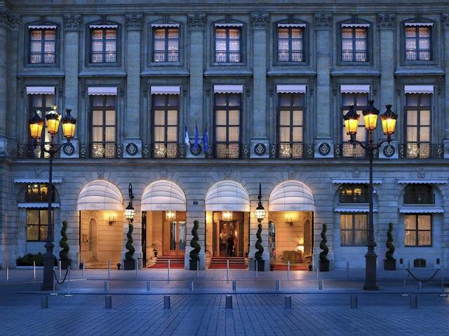 Exterior of renovated Ritz Paris