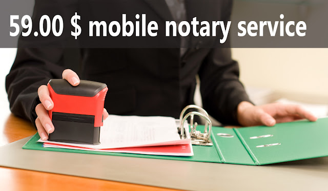 Mobile Notary 50.00 $