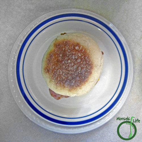 Morsels of Life - DIY Egg McMuffin Step 6 - Top with English muffin top.