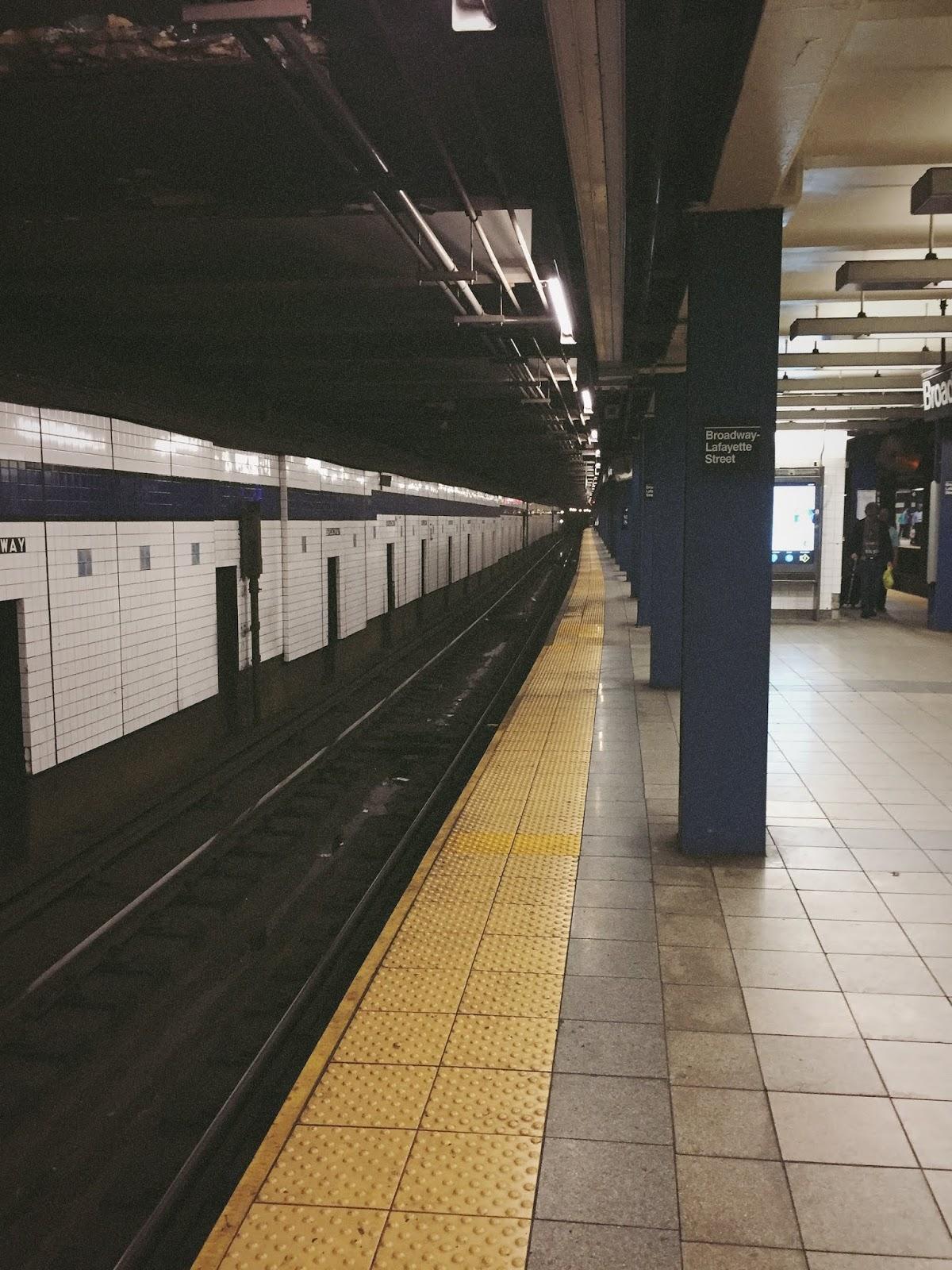 New York City travel diary  subway