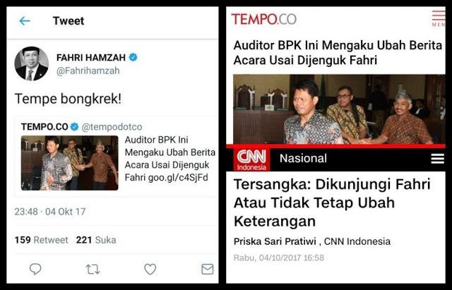 """Diframing Tempo, Fahri Hamzah Ngamuk: """"Tempe bongkrek!"""""""