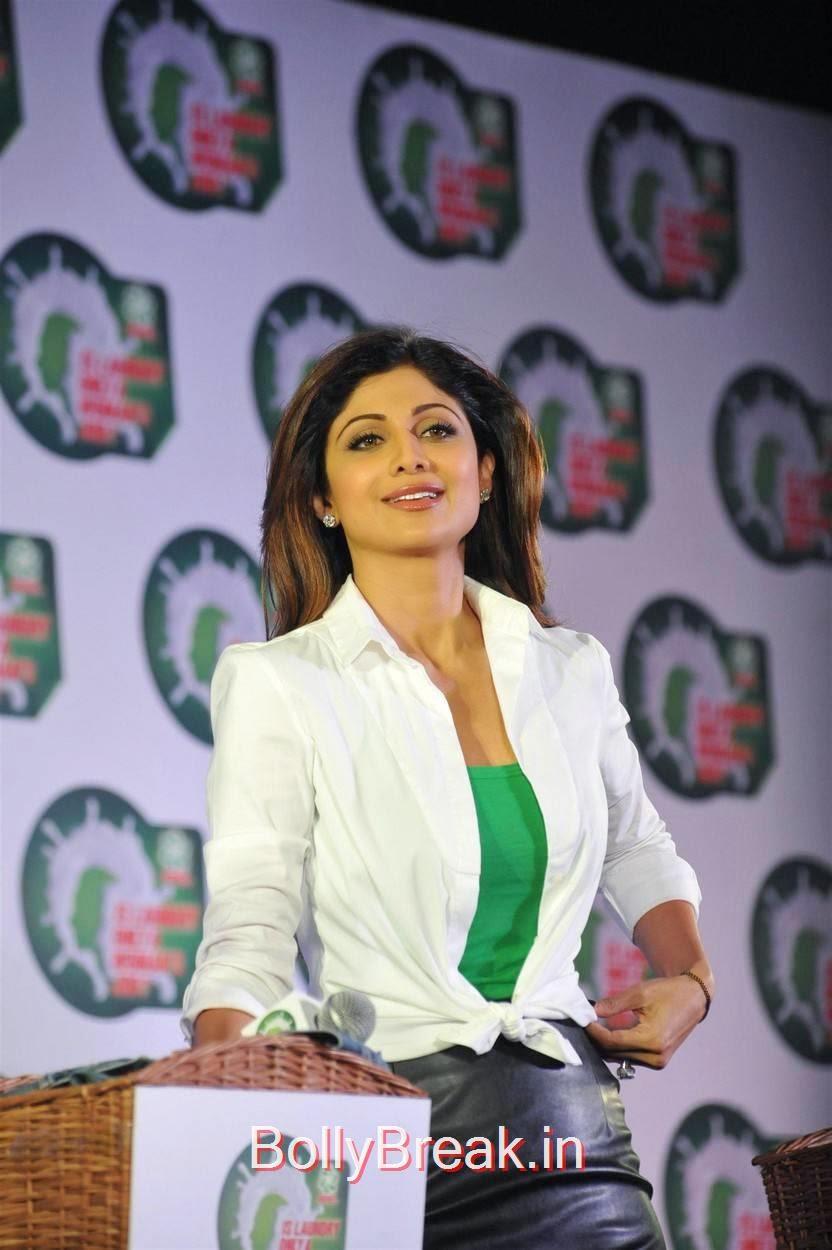 Shilpa Shetty Photoshoot Stills, Shilpa Shetty Hot Pics in Skirt  At Ariel Promotional Event National Survey