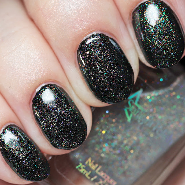 Starlight Polish Phantasmal Chimera Wishes over black