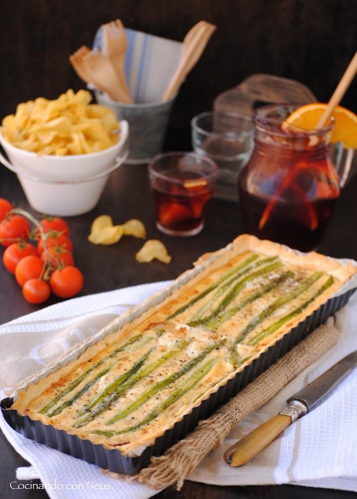 Cocinando con neus tarta de esp rragos verdes a los 3 quesos for Cocinando 1000 huevos