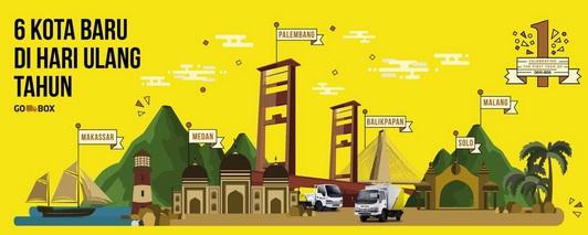 Go-Box Makassar,   Go-Box Medan, Go-Box Palembang, Go-Box Balikpapan, Go-Box Solo dan Go-Box Malang
