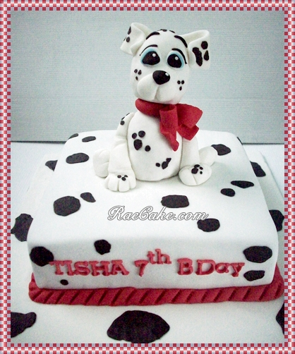 Dalmatian Cake For Tisha Kue Ulang Tahun Birthday Cake