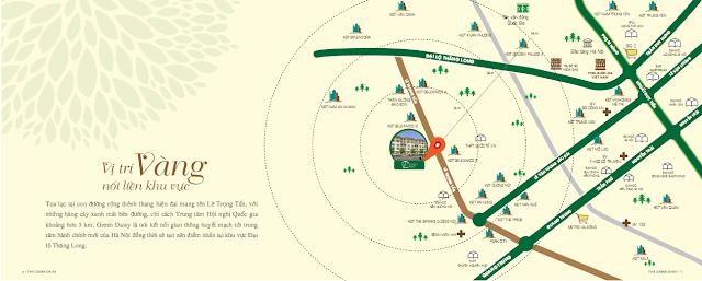 Liên kết vùng thuận lợi của dự án The Green Daisy