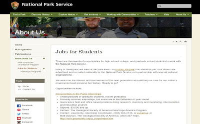 National Park Service Jobs for Students.