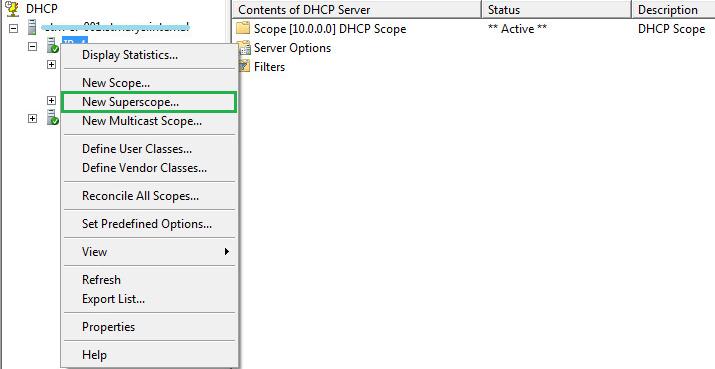 open dhcp server