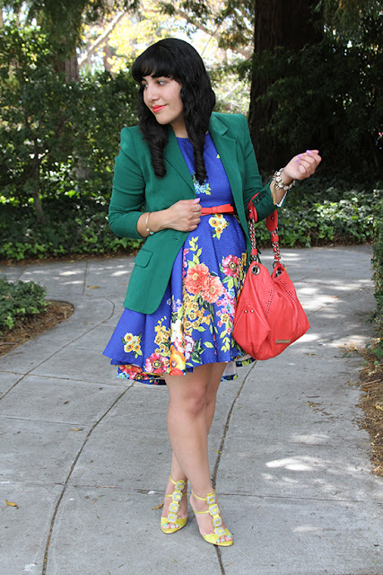 Colorful Floral Spring Work Outfit Inspirtion