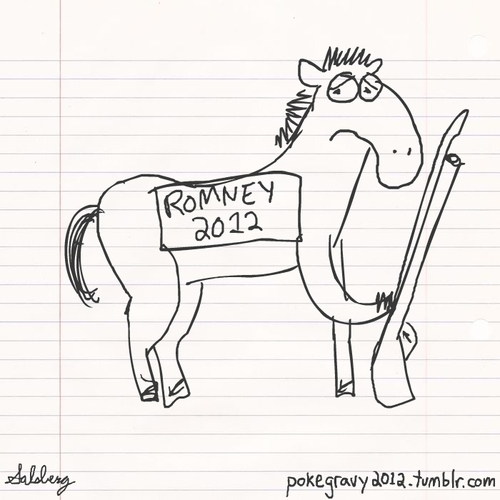 Obama satire About horses and Bayonets So an Internet