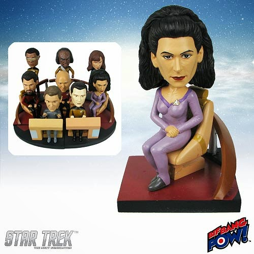 Star Trek: The Next Generation Counselor Deanna Troi Build-a-Bridge Bobble Head by Bif Bang Pow!