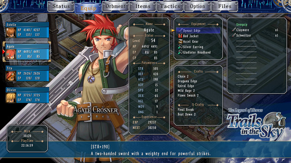 The Legend of Heroes Trails in the Sky SC PC Full Version Screenshot 1