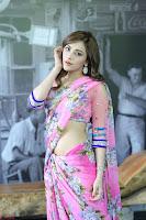 Angela Krislinzki Rogue Movie Fame Telugu Actress in Saree Backless Choli 057.JPG