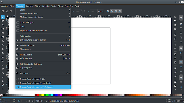 Layout de telas no Inkscape