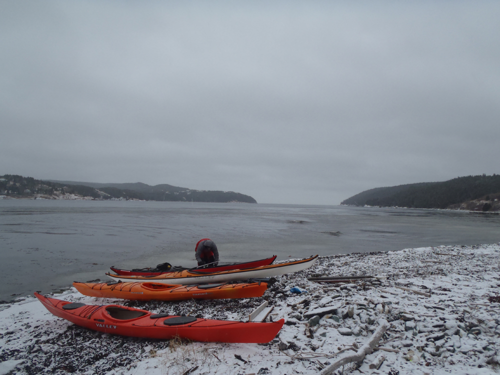 kayak on snow my newfoundland kayak experience paddling in cape broyle with