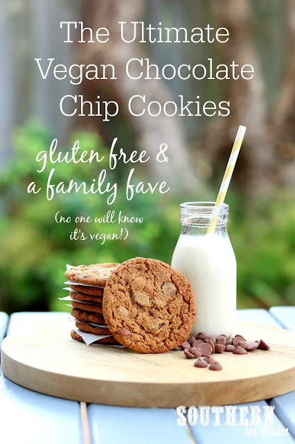 The Ultimate Gluten Free Vegan Chocolate Chip Cookies Recipe -  healthy, low sugar, low fat, refined sugar free, kid friendly