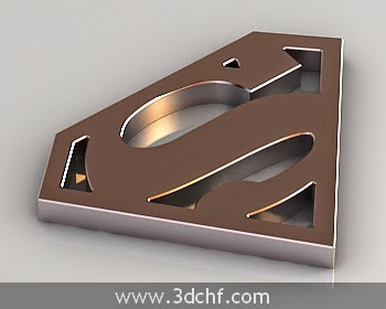 superman logo 3ds max model