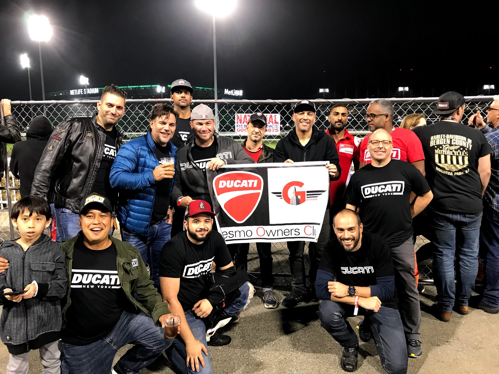 Tigh Loughhead of Gotham Ducati and Steve Radt of Ducati New York at American Flat Track