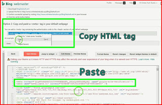Copy and paste HTML tag to bloggr
