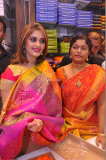 Surabhi looks stunning in Saree at Nakshatra Fashion Store Launch at Suchitra X Road 23.JPG