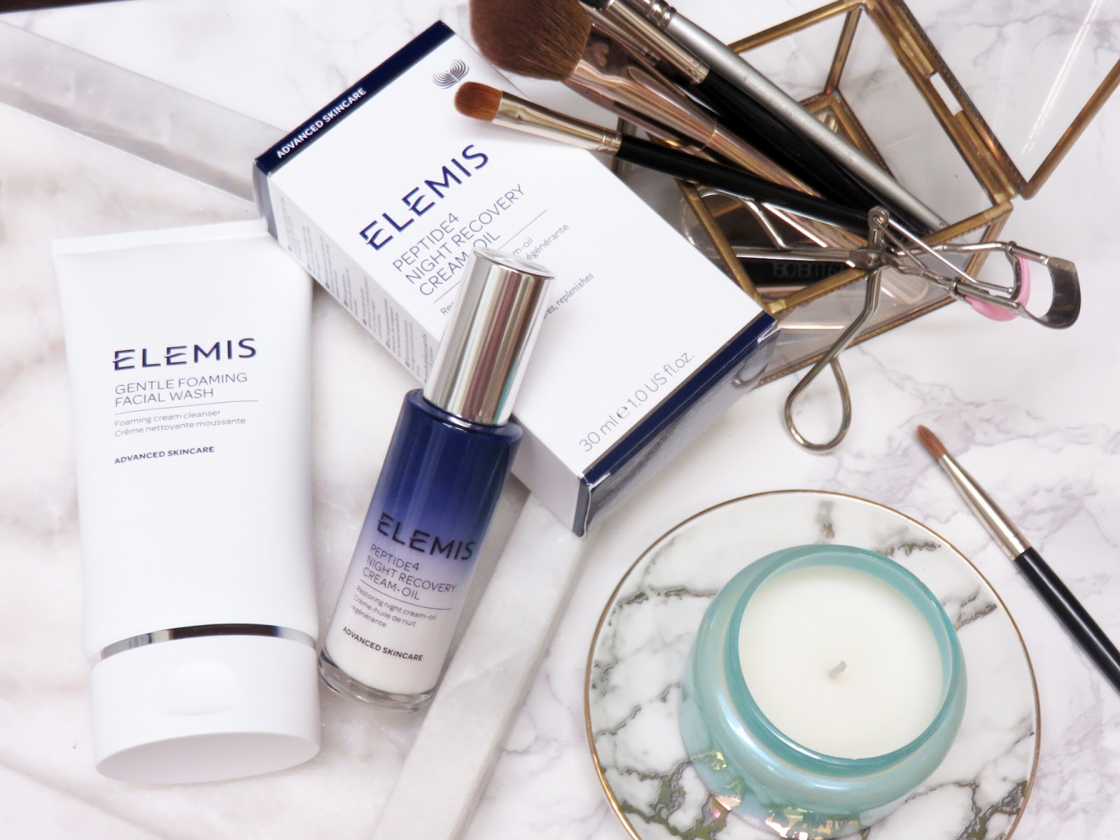 review elemis peptide4 night recovery cream oil