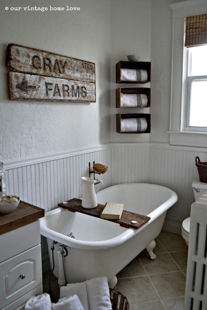 Farmhouse Bathroom Decor Rustic Bathroom Signs Wash Brush